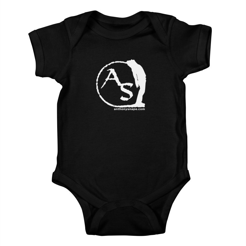 AS LOGO Print anthonysnape.com Kids Baby Bodysuit by Home Store - Music Artist Anthony Snape