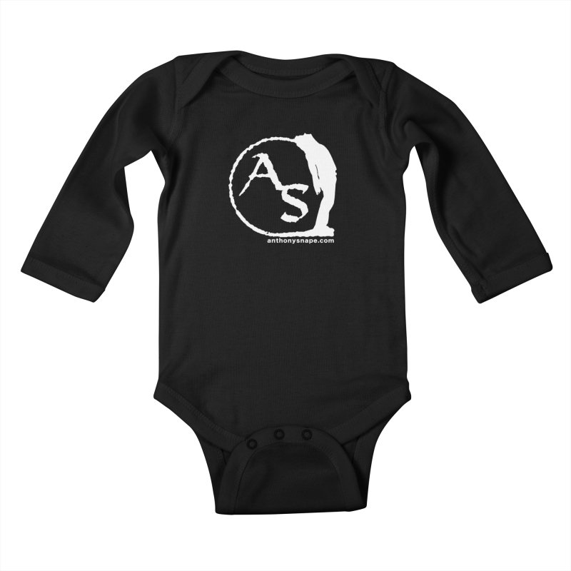 AS LOGO Print anthonysnape.com Kids Baby Longsleeve Bodysuit by Home Store - Music Artist Anthony Snape