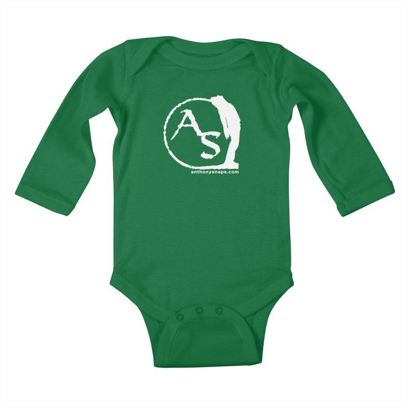 AS LOGO Print anthonysnape.com Kids Baby Longsleeve Bodysuit by Home Store - Music Artist Anthony Snape