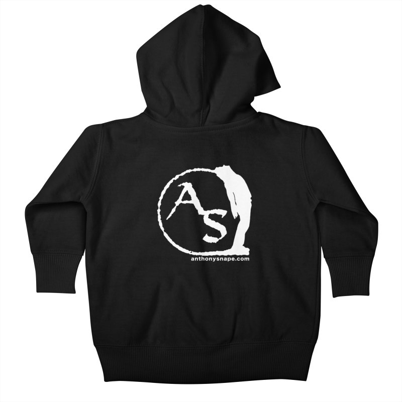 AS LOGO Print anthonysnape.com Kids Baby Zip-Up Hoody by Home Store - Music Artist Anthony Snape