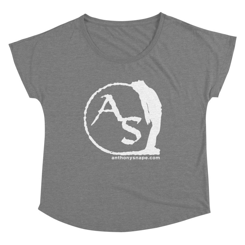 AS LOGO Print anthonysnape.com Women's Scoop Neck by Home Store - Music Artist Anthony Snape