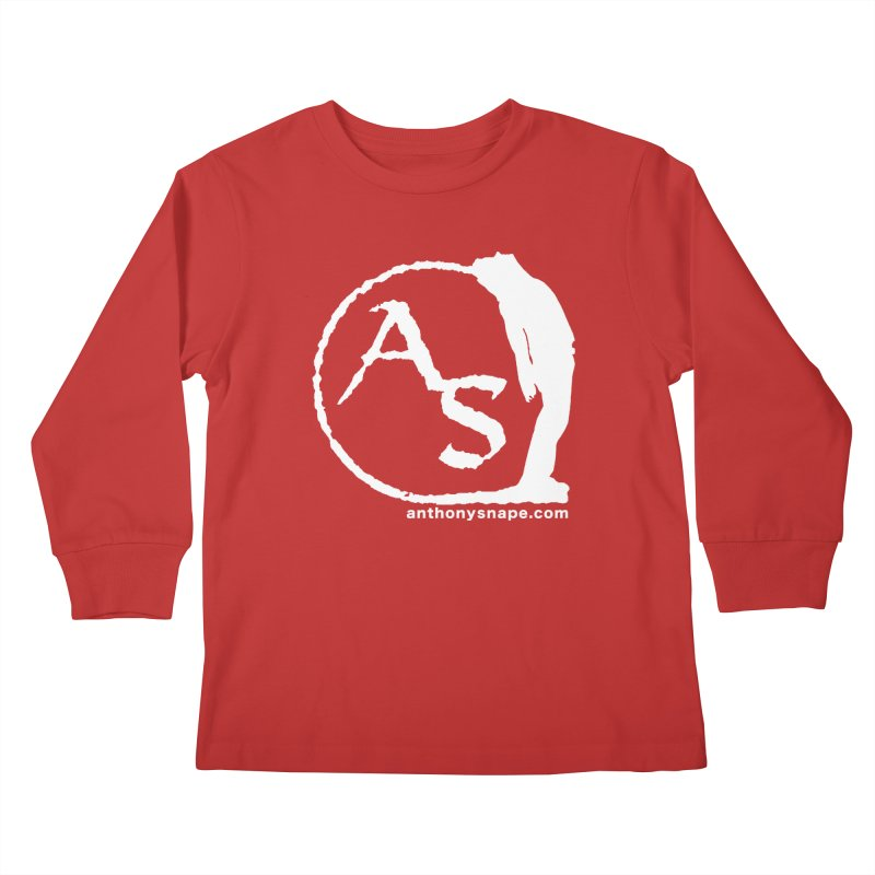 AS LOGO Print anthonysnape.com Kids Longsleeve T-Shirt by Home Store - Music Artist Anthony Snape