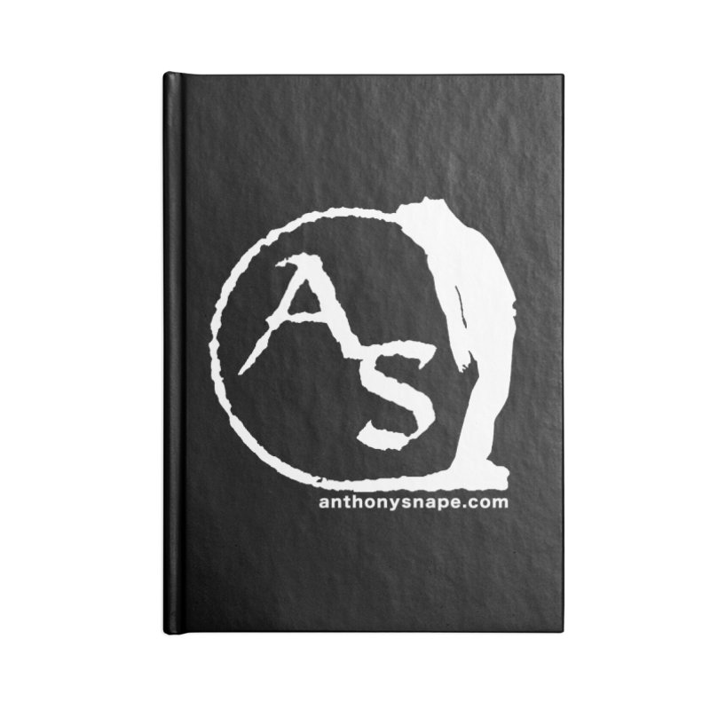 AS LOGO Print anthonysnape.com Accessories Lined Journal Notebook by Home Store - Music Artist Anthony Snape