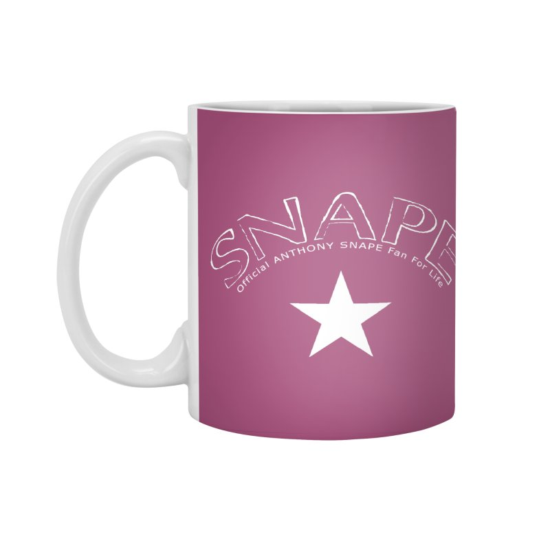 Snape Star Design - Fan For Life Accessories Standard Mug by Home Store - Music Artist Anthony Snape