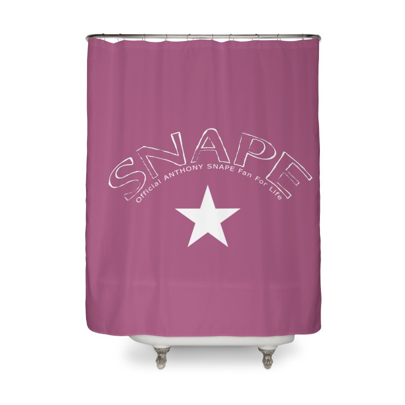 Snape Star Design - Fan For Life Home Shower Curtain by Home Store - Music Artist Anthony Snape