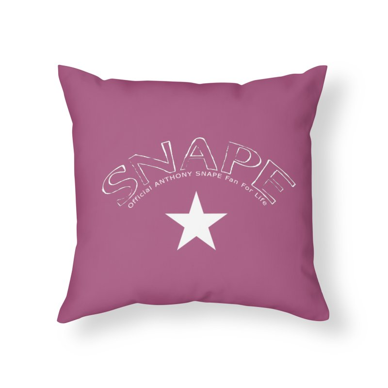 Snape Star Design - Fan For Life Home Throw Pillow by Home Store - Music Artist Anthony Snape