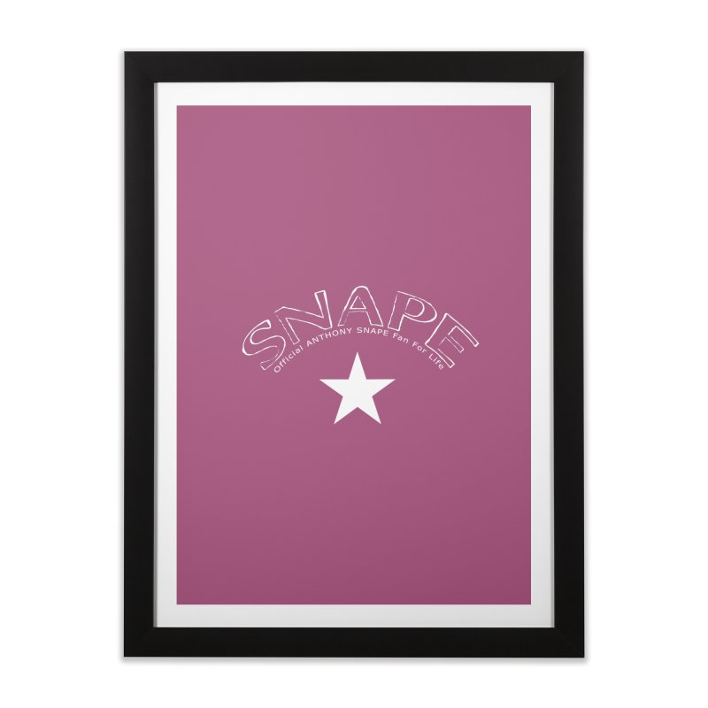 Snape Star Design - Fan For Life Home Framed Fine Art Print by Home Store - Music Artist Anthony Snape