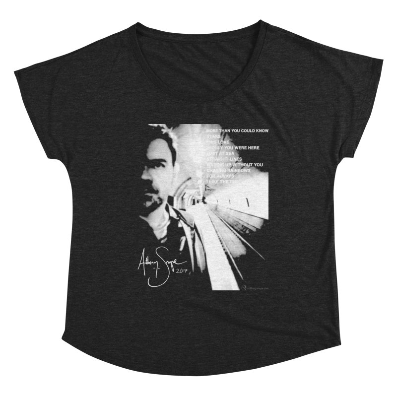 Signature Series 001 - Straight Lines 2017 Women's Scoop Neck by Home Store - Music Artist Anthony Snape