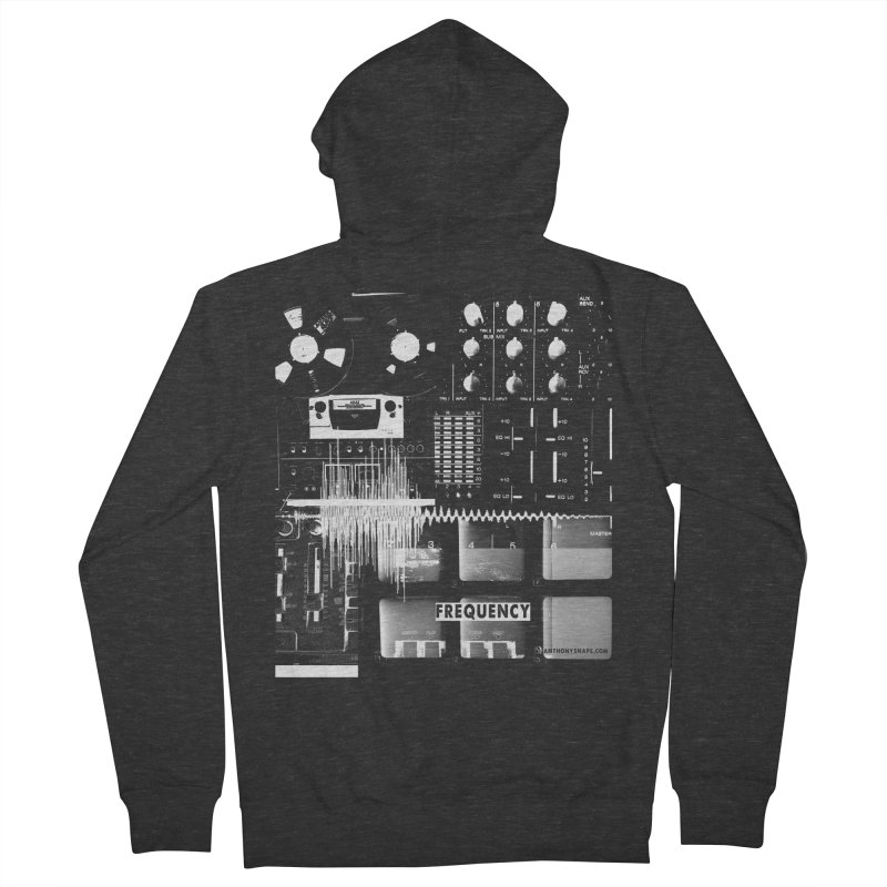 Frequency - Inspired Design Women's French Terry Zip-Up Hoody by Home Store - Music Artist Anthony Snape