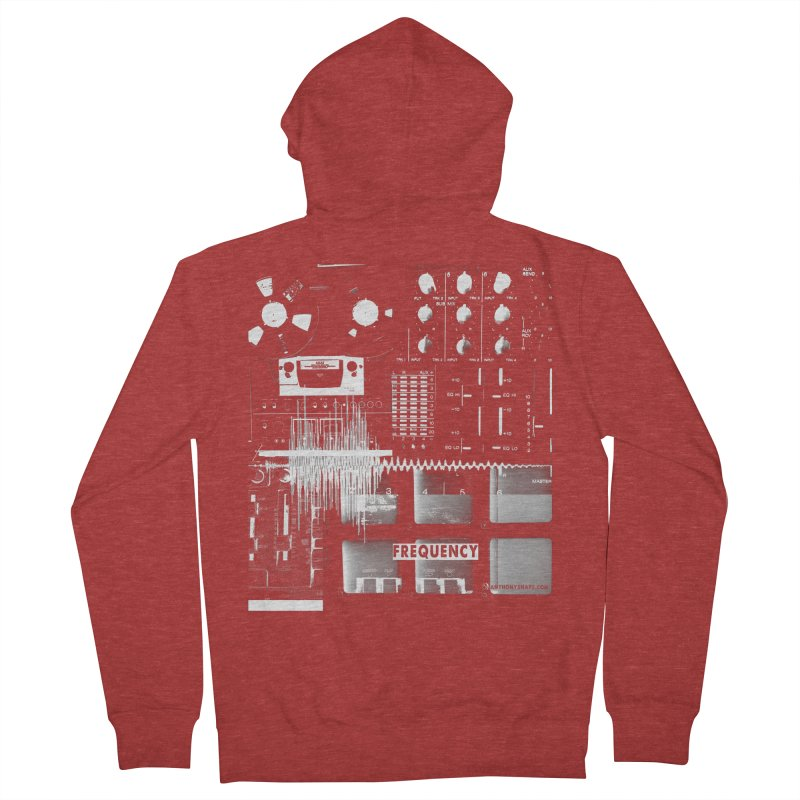 Frequency - Inspired Design Men's French Terry Zip-Up Hoody by Home Store - Music Artist Anthony Snape