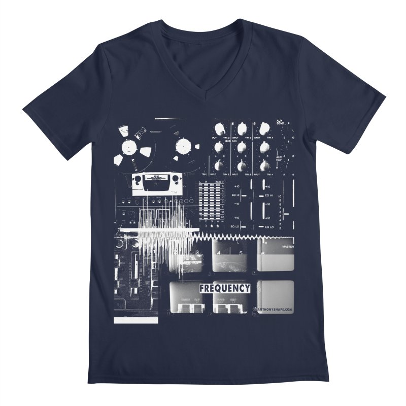 Frequency - Inspired Design Men's Regular V-Neck by Home Store - Music Artist Anthony Snape
