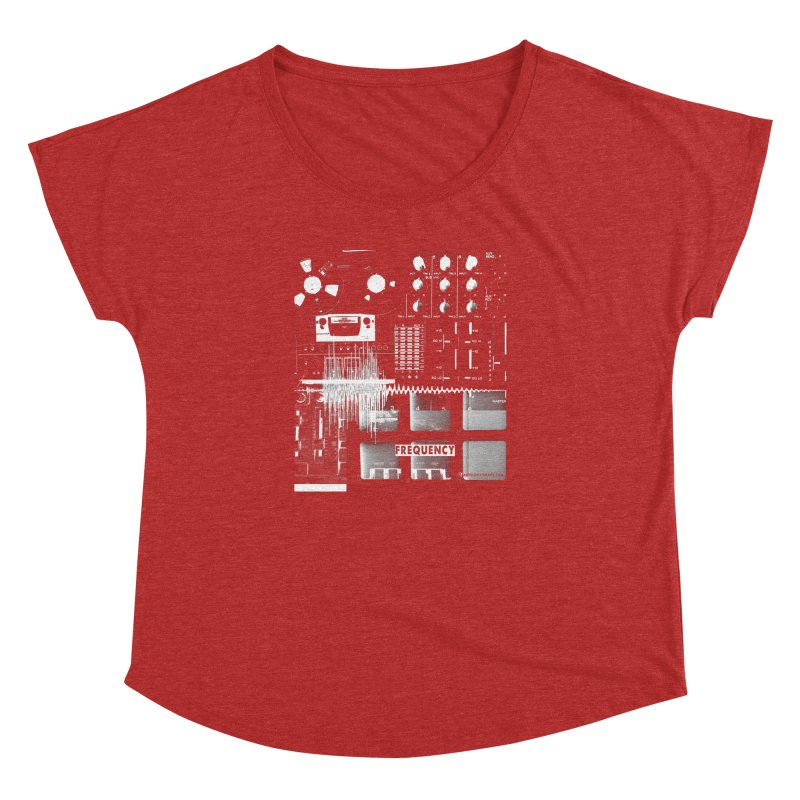 Frequency - Inspired Design Women's Dolman Scoop Neck by Home Store - Music Artist Anthony Snape