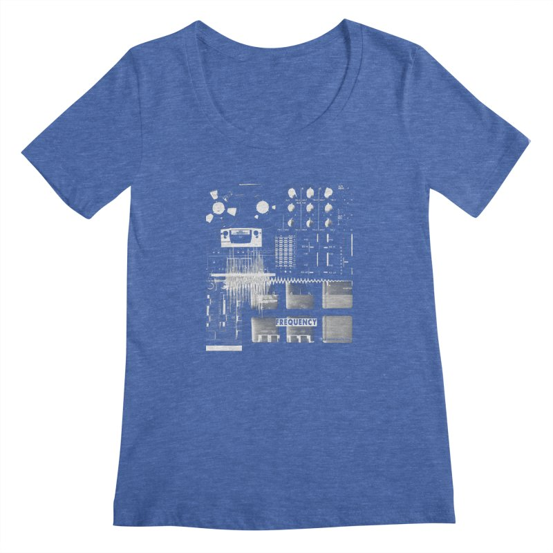 Frequency - Inspired Design Women's Regular Scoop Neck by Home Store - Music Artist Anthony Snape
