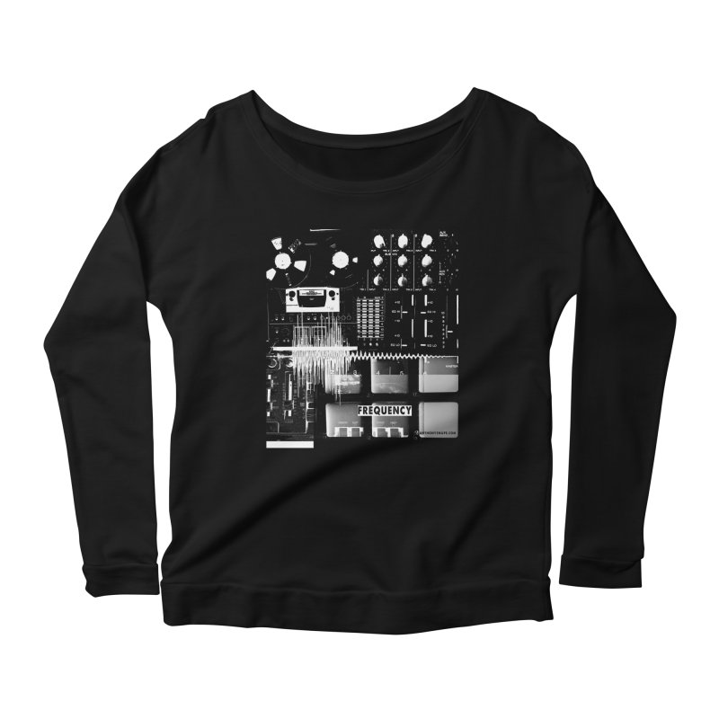 Frequency - Inspired Design Women's Scoop Neck Longsleeve T-Shirt by Home Store - Music Artist Anthony Snape
