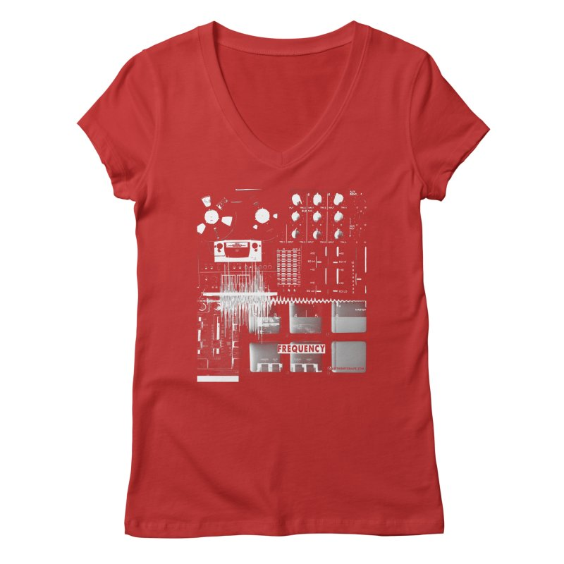 Frequency - Inspired Design Women's Regular V-Neck by Home Store - Music Artist Anthony Snape