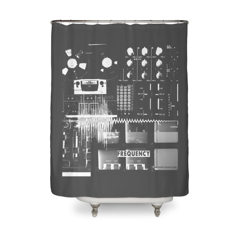 Frequency - Inspired Design Home Shower Curtain by Home Store - Music Artist Anthony Snape