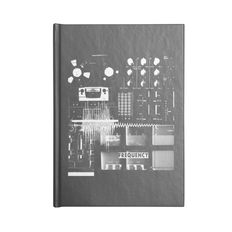 Frequency - Inspired Design Accessories Blank Journal Notebook by Home Store - Music Artist Anthony Snape