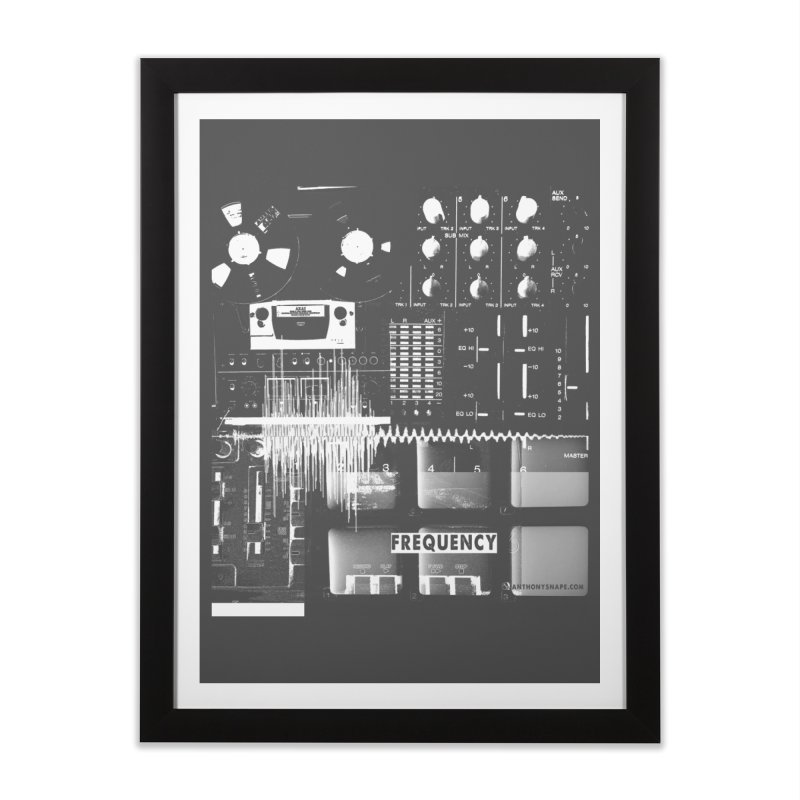 Frequency - Inspired Design Home Framed Fine Art Print by Home Store - Music Artist Anthony Snape