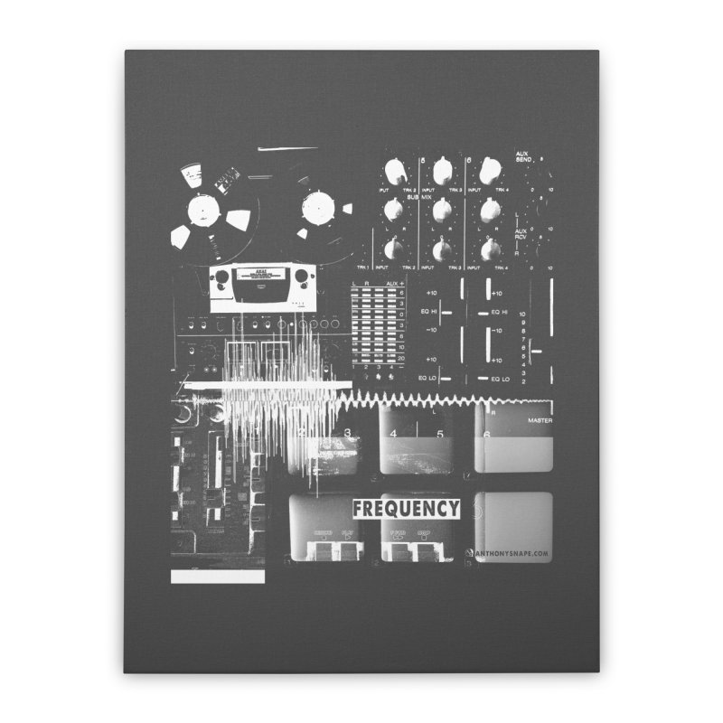 Frequency - Inspired Design Home Stretched Canvas by Home Store - Music Artist Anthony Snape
