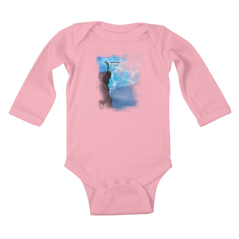 Disappearing Day - Song Inspired Art Kids Baby Longsleeve Bodysuit by Music Artist Anthony Snape