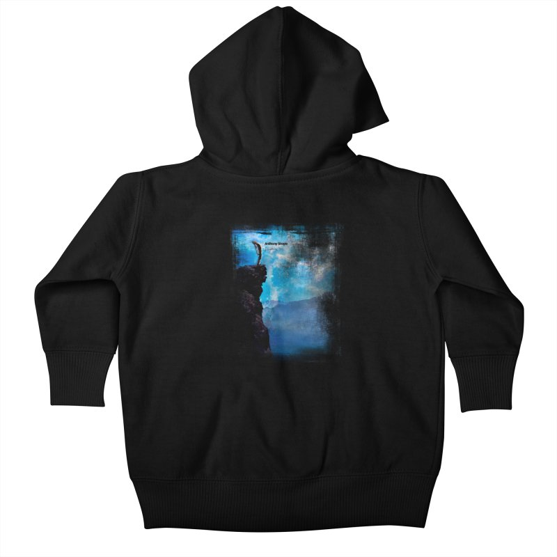 Disappearing Day - Song Inspired Art Kids Baby Zip-Up Hoody by Music Artist Anthony Snape