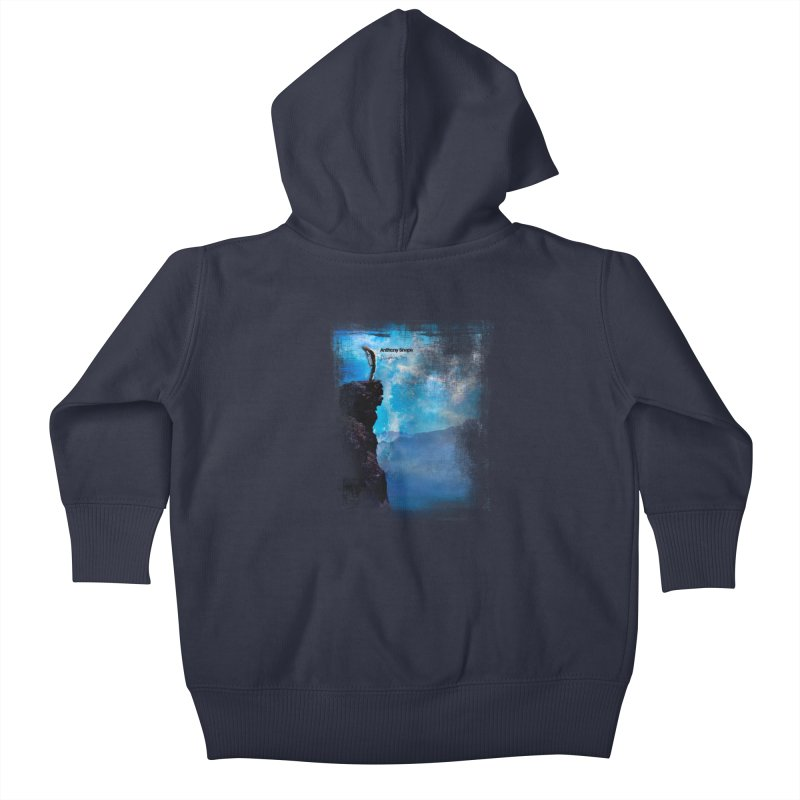 Disappearing Day - Song Inspired Art Kids Baby Zip-Up Hoody by Home Store - Music Artist Anthony Snape