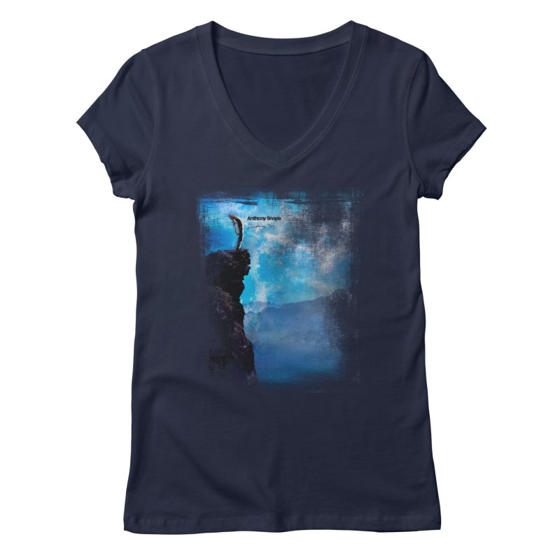 Disappearing Day - Song Inspired Art Women's V-Neck by Home Store - Music Artist Anthony Snape
