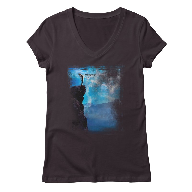 Disappearing Day - Song Inspired Art Women's V-Neck by Music Artist Anthony Snape