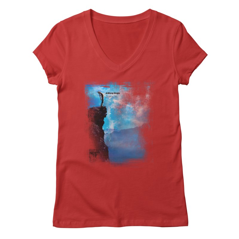 Disappearing Day - Song Inspired Art Women's Regular V-Neck by Home Store - Music Artist Anthony Snape