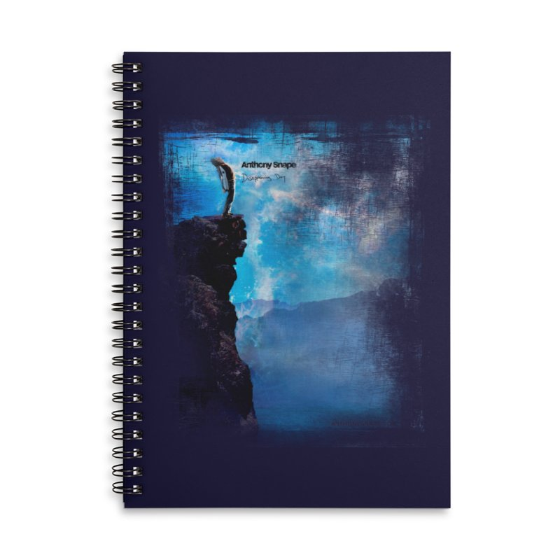 Disappearing Day - Song Inspired Art Accessories Lined Spiral Notebook by Home Store - Music Artist Anthony Snape