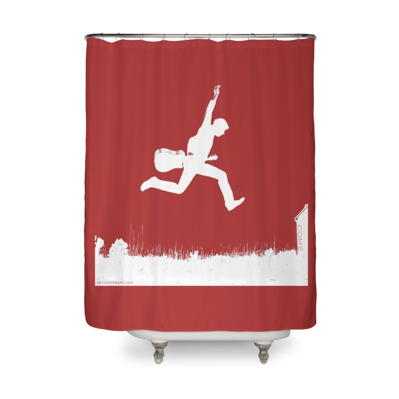 COME - Song Inspired Design Home Shower Curtain by Home Store - Music Artist Anthony Snape