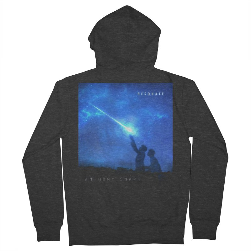 Resonate Album Artwork Design Women's French Terry Zip-Up Hoody by Home Store - Music Artist Anthony Snape