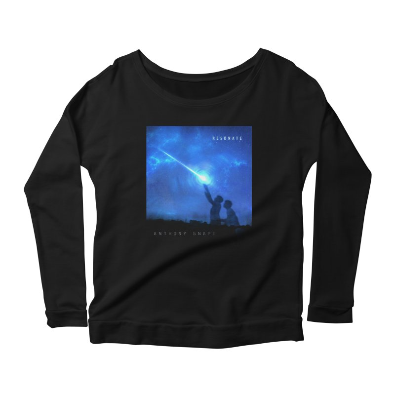 Resonate Album Artwork Design Women's Scoop Neck Longsleeve T-Shirt by Home Store - Music Artist Anthony Snape