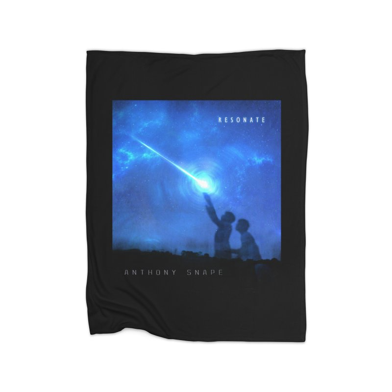 Resonate Album Artwork Design Home Fleece Blanket Blanket by Home Store - Music Artist Anthony Snape
