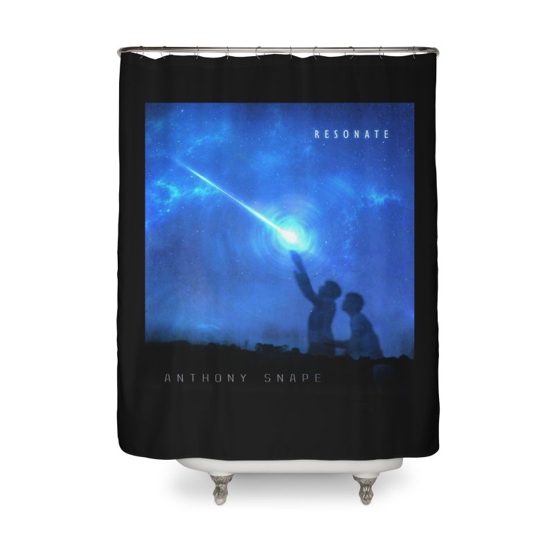 Resonate Album Artwork Design Home Shower Curtain by Home Store - Music Artist Anthony Snape