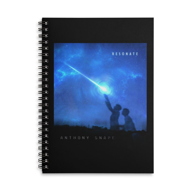 Resonate Album Artwork Design Accessories Lined Spiral Notebook by Home Store - Music Artist Anthony Snape