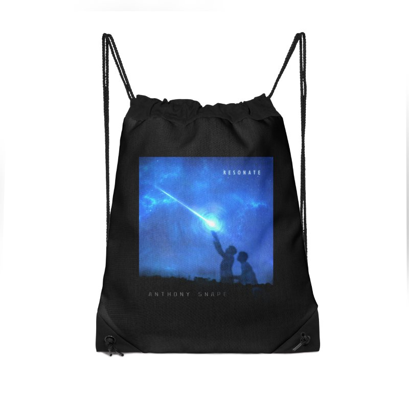Resonate Album Artwork Design Accessories Drawstring Bag Bag by Home Store - Music Artist Anthony Snape