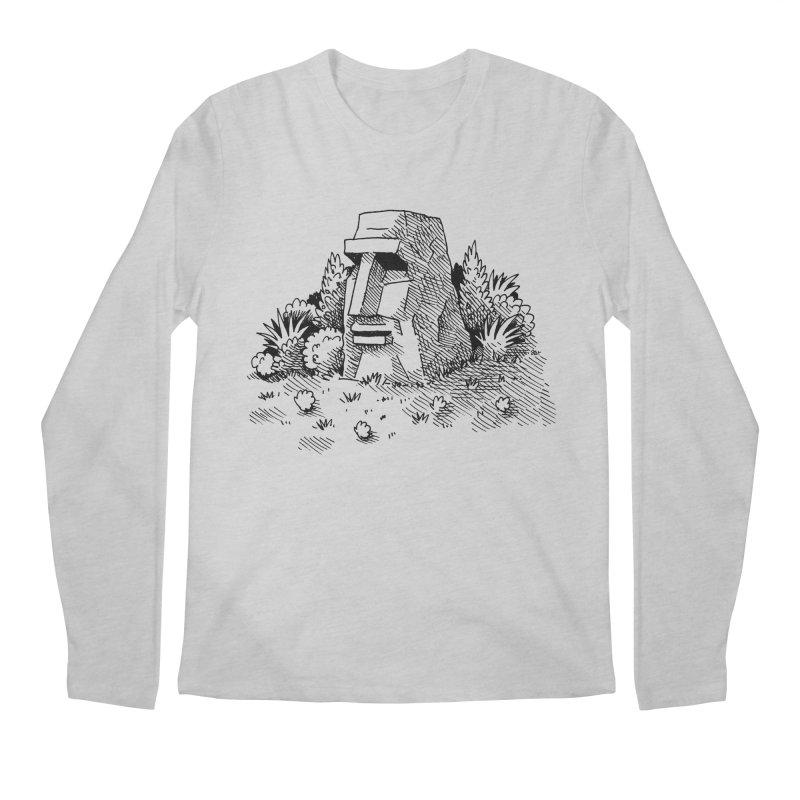 Jungle Monolith Men's Longsleeve T-Shirt by Anthony Woodward's Artist Shop