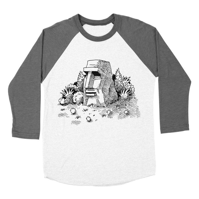 Jungle Monolith Women's Baseball Triblend T-Shirt by Anthony Woodward's Artist Shop