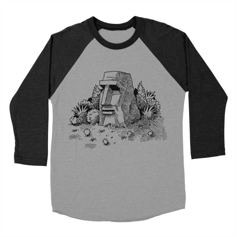 Jungle Monolith Men's Baseball Triblend T-Shirt by Anthony Woodward's Artist Shop