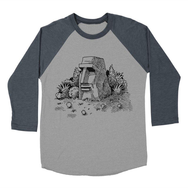 Jungle Monolith Men's Baseball Triblend T-Shirt by Anthony Woodward's Artist Shop