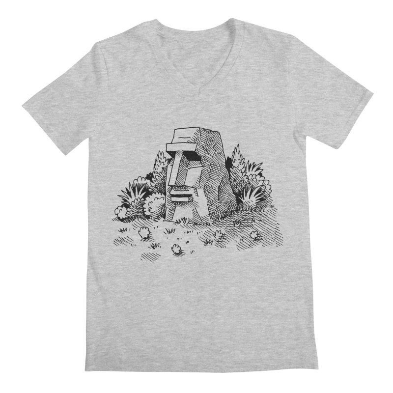 Jungle Monolith Men's V-Neck by Anthony Woodward's Artist Shop