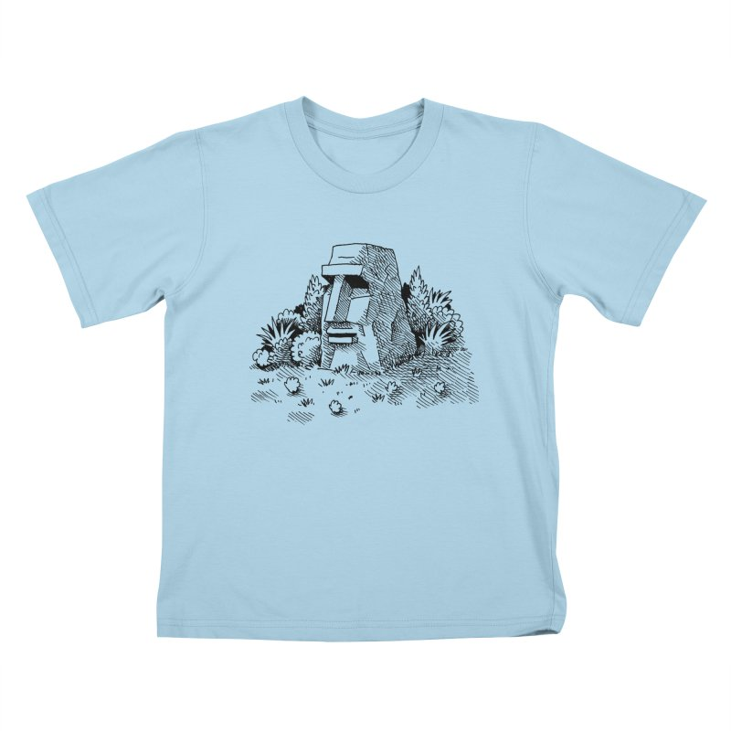 Jungle Monolith Kids T-Shirt by Anthony Woodward's Artist Shop