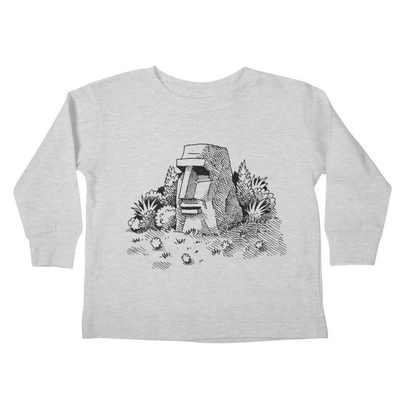 Jungle Monolith Kids Toddler Longsleeve T-Shirt by Anthony Woodward's Artist Shop