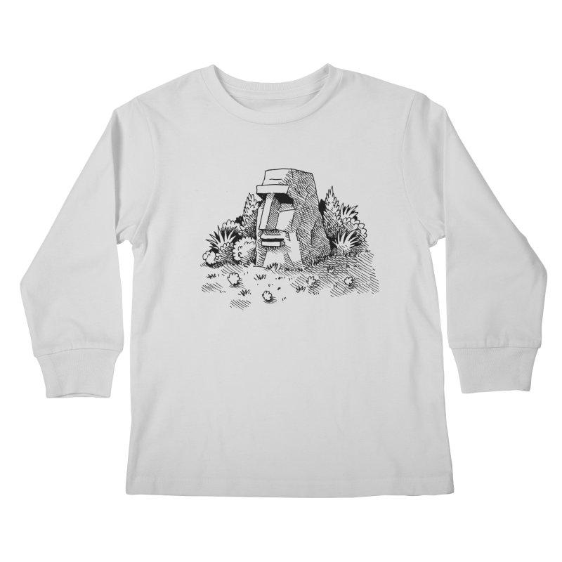 Jungle Monolith Kids Longsleeve T-Shirt by Anthony Woodward's Artist Shop