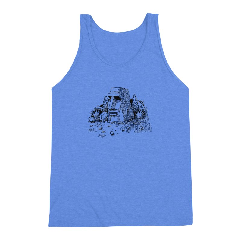 Jungle Monolith Men's Triblend Tank by Anthony Woodward's Artist Shop