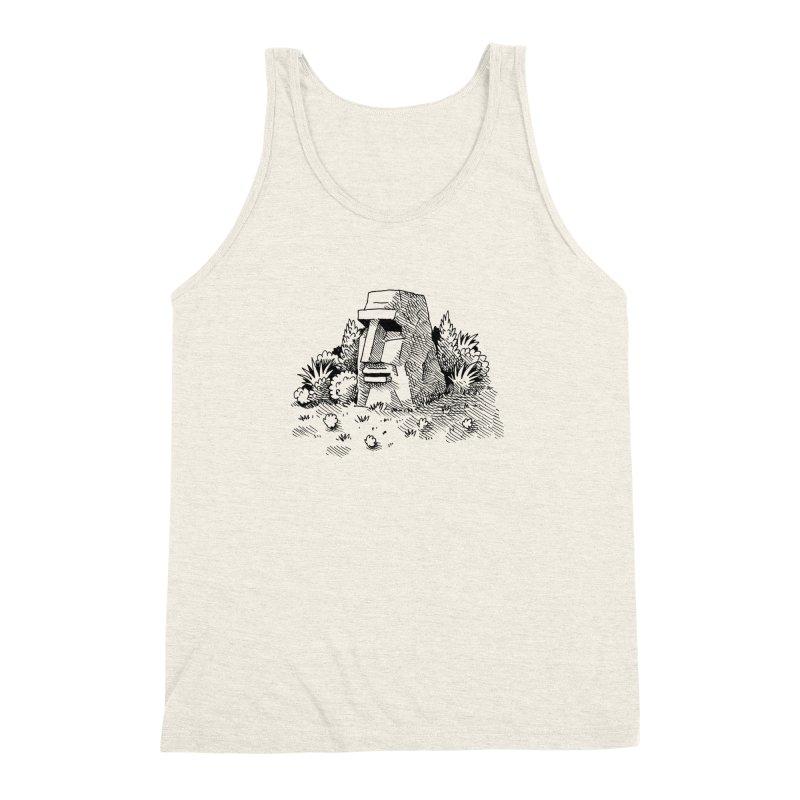 Jungle Monolith Men's Triblend Tank by Anthony Woodward's Artist Shop