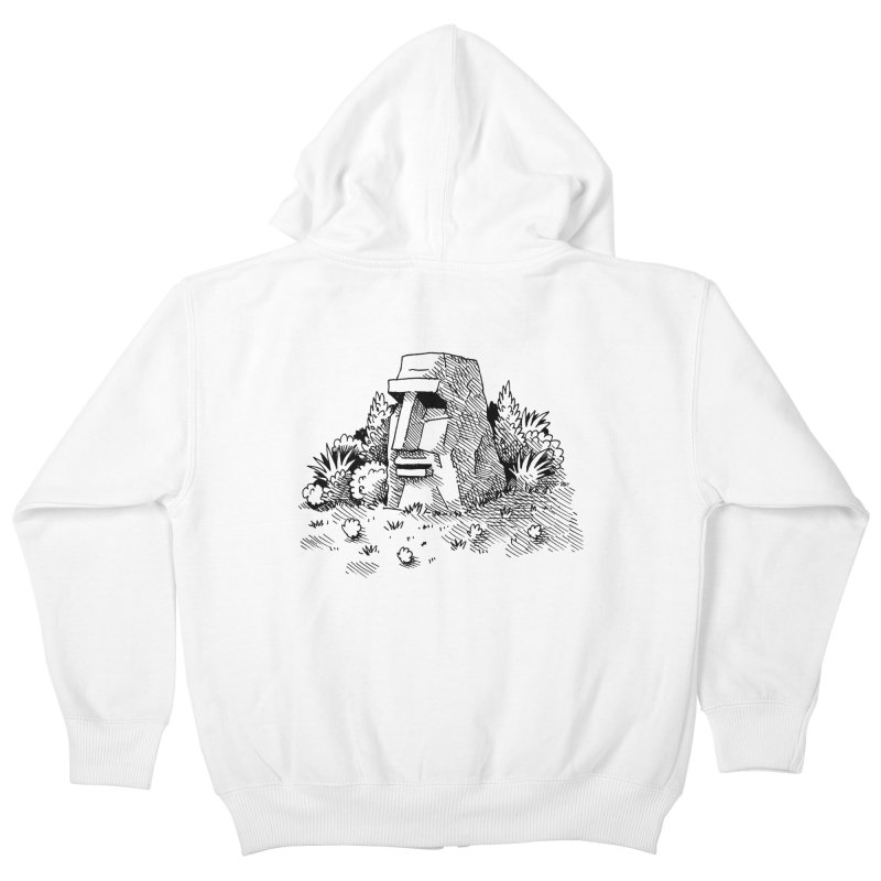 Jungle Monolith Kids Zip-Up Hoody by Anthony Woodward's Artist Shop