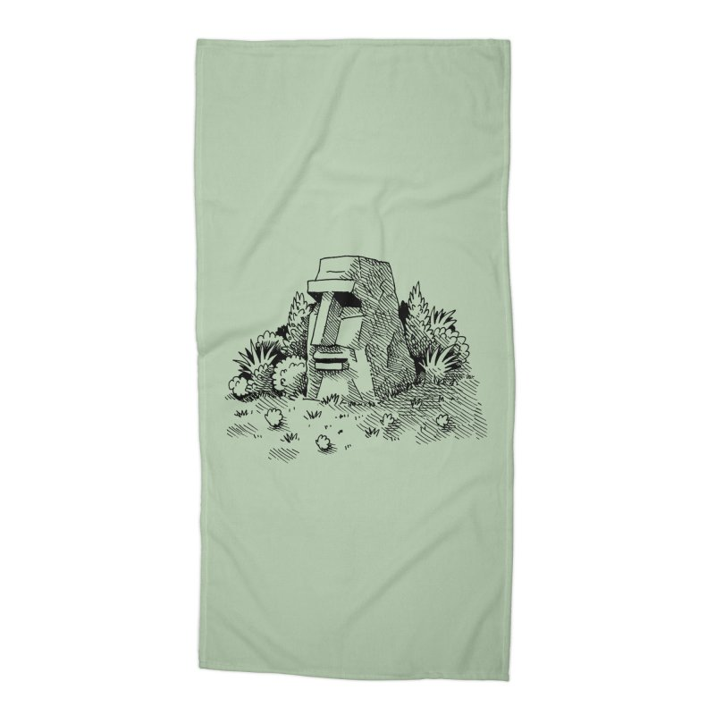 Jungle Monolith Accessories Beach Towel by Anthony Woodward's Artist Shop