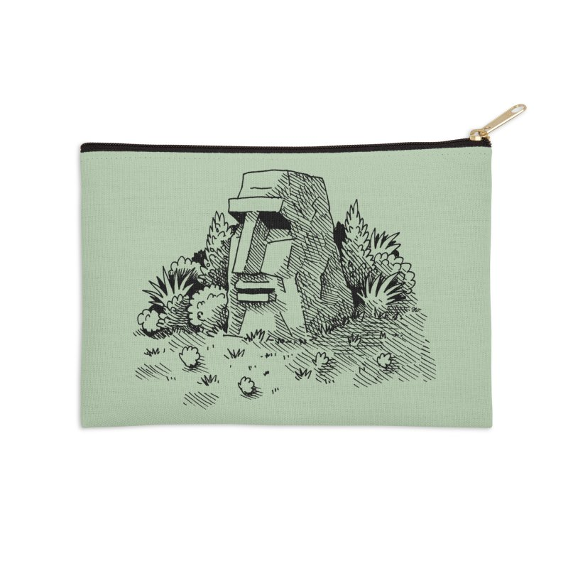 Jungle Monolith Accessories Zip Pouch by Anthony Woodward's Artist Shop